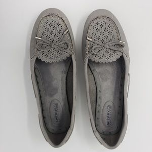 Sperry grey suede loafers, 8.5M